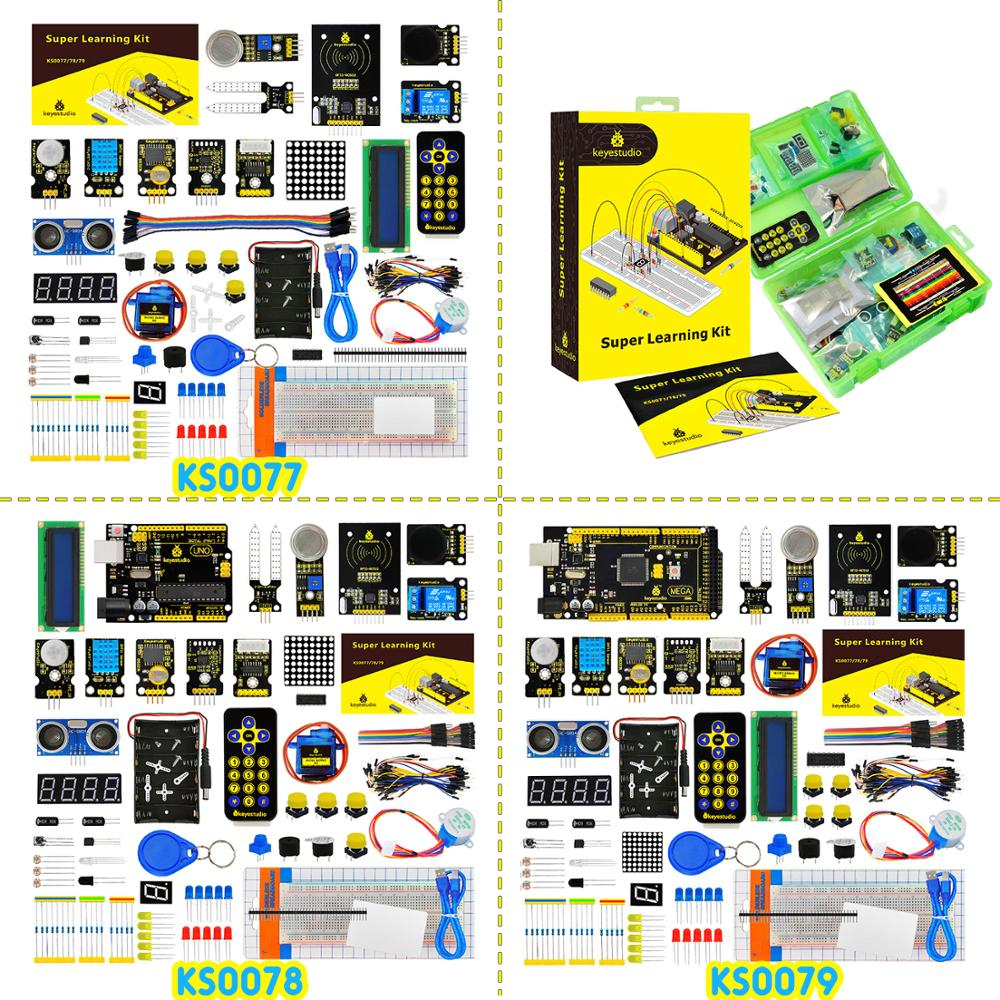 Keyestudio Super Starter kit/ RFID Learning Kit Compatible with  Arduino Starter kit (UNOR3) With Tutorial/Gift BoxKeyestudio Super Starter kit/ RFID Learning Kit Compatible with  Arduino Starter kit (UNOR3) With Tutorial/Gift Box