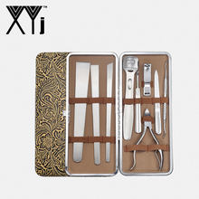 XYj Pedicure Set Stainless Steel Foot Care Tools Set Dead Skin Remover Feet Skin Cutter Cuticle Toe Nail Clipper Pedicure Knife(China)