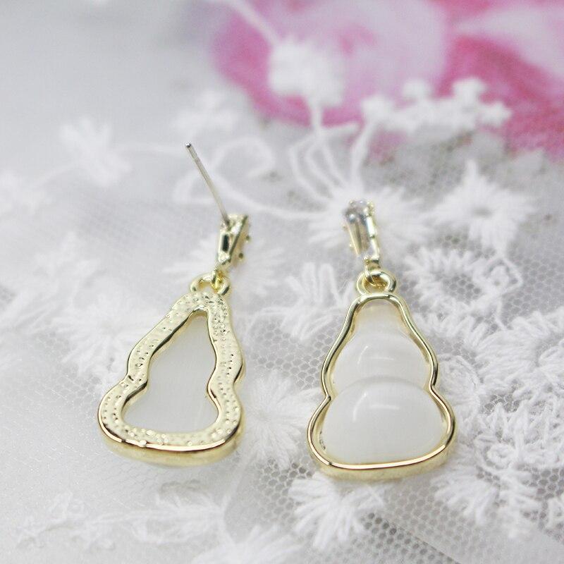 CHENFAN natural stone earrings S925 silver needle womens earrings fashion earrings for women 2019 drop earrings jewelry in Drop Earrings from Jewelry Accessories