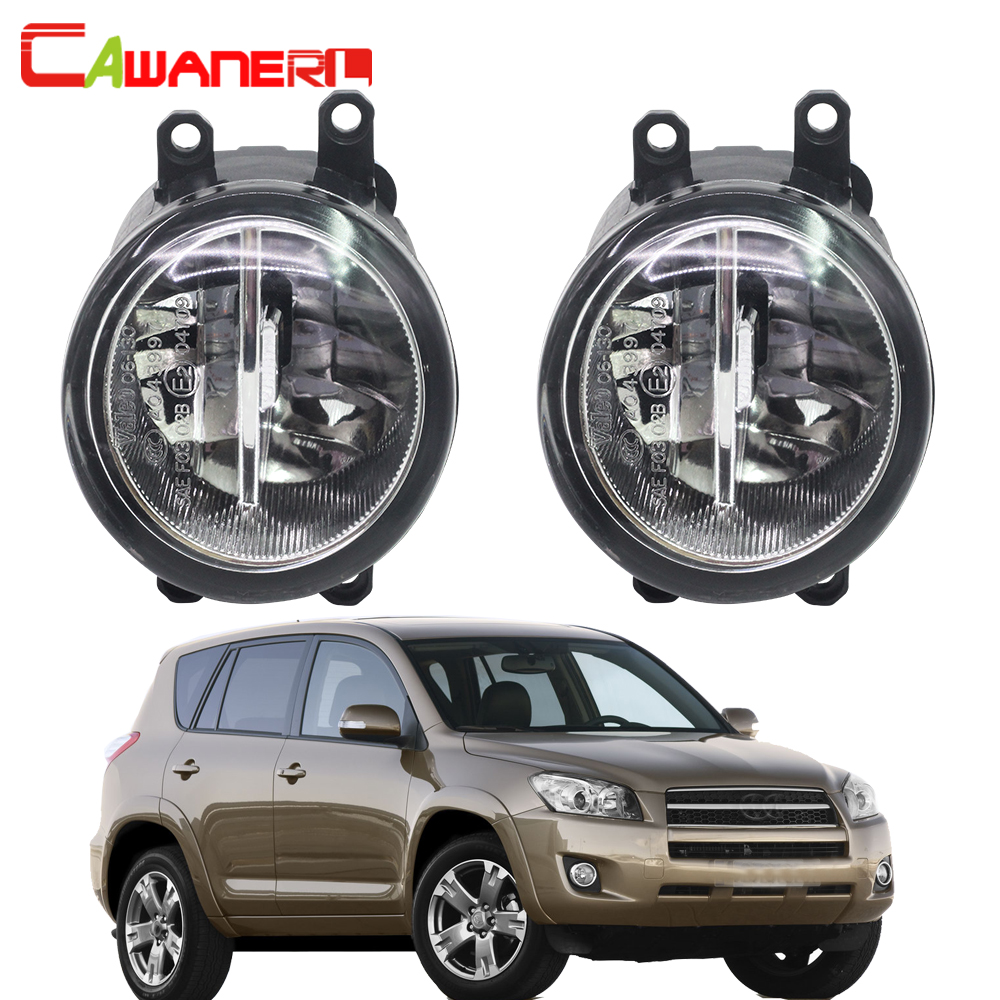 Cawanerl For Toyota RAV4 2006-2012 Car H11 LED Fog Light 4000LM 6000K DRL Daytime Running Lamp White 12V 2 Pieces cawanerl for toyota highlander 2008 2012 car styling left right fog light led drl daytime running lamp white 12v 2 pieces