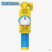 Doraemon Selfie stick Cartoon Selfie stick Mini cute drive-by-wire Rearview mirror