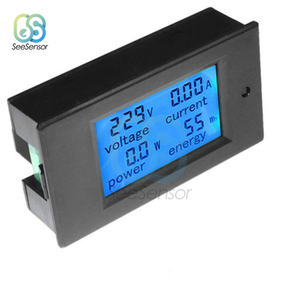 20A <font><b>50A</b></font> AC 80-260V <font><b>DC</b></font> 6.5-<font><b>100V</b></font> LCD Digital <font><b>Voltmeter</b></font> <font><b>Ammeter</b></font> Wattmeter Power Energy Tester Amps Volt Current Voltage Meter image