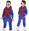 2016 Marvel Comic Классический Человек-Паук Детский Костюм, дети мальчики фантазия Хеллоуин костюм фантазии супергероя карнавал