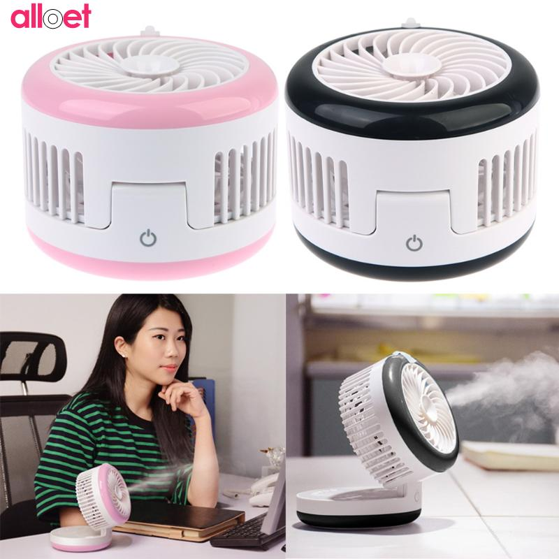 Rechargeable USB Fan Air Humidifier Mini Portable Spraying Fan Water Mist Fan Ventilator Purifier Mobile power supply for office mini air conditional fan support humidifier with night light usb rechargeable water mist fan portable for home office