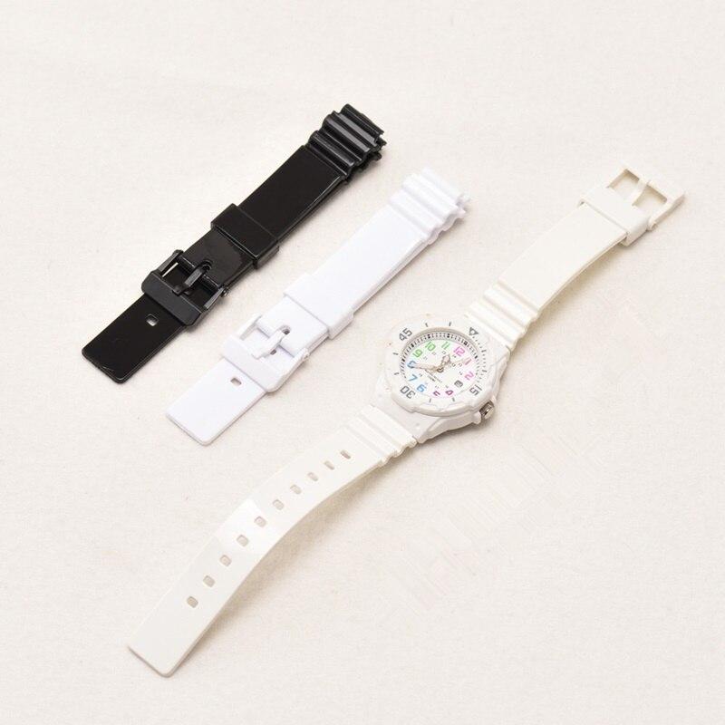 De calidad superior de buceo deporte pulsera de reloj para CASIO LRW-200H Sustitución de goma correa de reloj de bandas negro Reloj Blanco cinturón para las mujeres