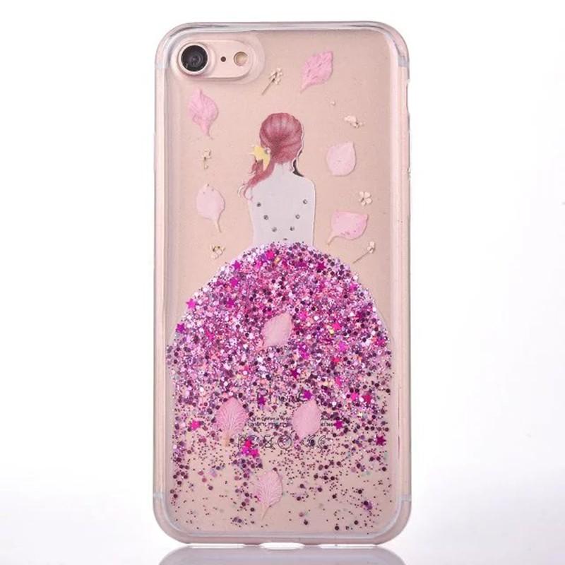 HTB1tiHBOVXXXXXjapXXq6xXFXXXe - Soft TPU Glitter Princess Dress Girl Petal Patterned Back Cover Cell Phone Case for iPhone 7 PTC 185