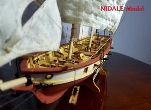 Image 3 - Spanish Baltimore Schooner Ship model building Kits Halcon Retro cannons luxurious sailboat model Offer English Instruction
