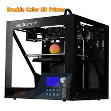 2017 Новый Высокая Точность Два-Цвет 3d-принтер Квази-Промышленного Класса 3 D Принтер С Высокой Производительностью MK9 вытянуть Бесплатная Доставка