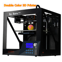 2018 New High Precision Two Color 3D Printer Quasi Industrial Grade 3 D Printer With High Performance MK9 Extrude Free Shipping