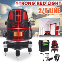 Zeast Strong Red Green Light 2/5 Line Laser Level Vertical Horizontal 360° Rotary Laser Line Waterproof
