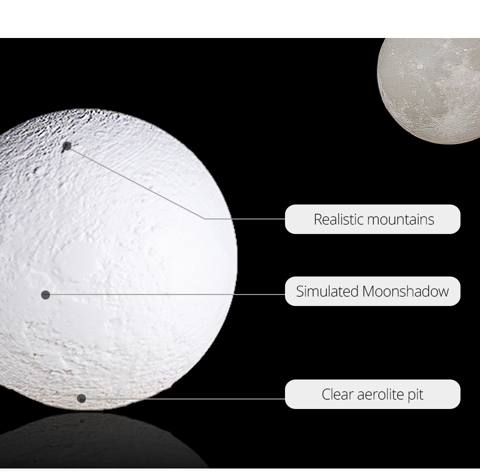 Rechargeable 3D Print Moon Table Lamp Christmas 16 Colors Night Touch Control Novelty Bedroom Desk Light For Baby Children Gifts (4)