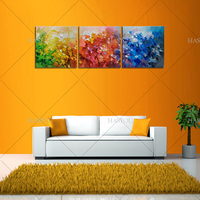 3 Piece big size Modern Hand Painted Abstract Oil Painting Wall Art abstract picture on Canvas for Living Room office wall Decor