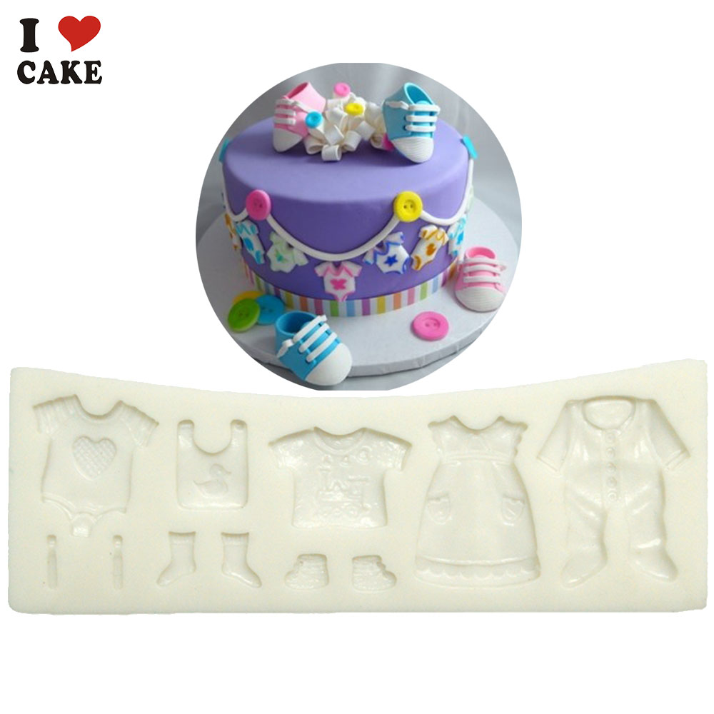 Baby clothes dress fondant cake decorating tool molde de silicone     Baby clothes dress fondant cake decorating tool molde de silicone moule  silicone wilton silikon mould  in Cake Molds from Home   Garden on  Aliexpress com