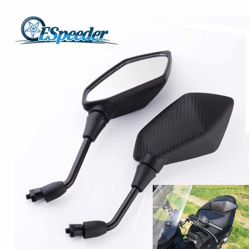 Espeeder 1 Pasang Motor Aksesoris Moto Cermin Skuter E-Sepeda Kaca Cermin Elektrombile Kembali Sisi Cembung 8 Mm 10 Mm