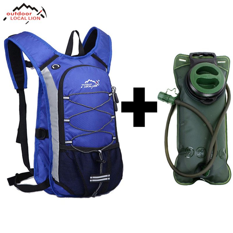 LOCAL LION 12L Moutain Backpack Bike Rucksacks Packsack Cycling Bag Knapsack Travel Running Sport Cycling Backpack Bag Water Bag 12l cycling road backpack bike mountaineering rucksack water proof nylon running outdoor ultralight travel water bag helmet bag
