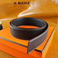 New Designer WITH BOX Famous Brand Luxury Belts Men Belts Male Waist Strap GENUINE Leather Alloy H smooth Buckle Belt wholesale