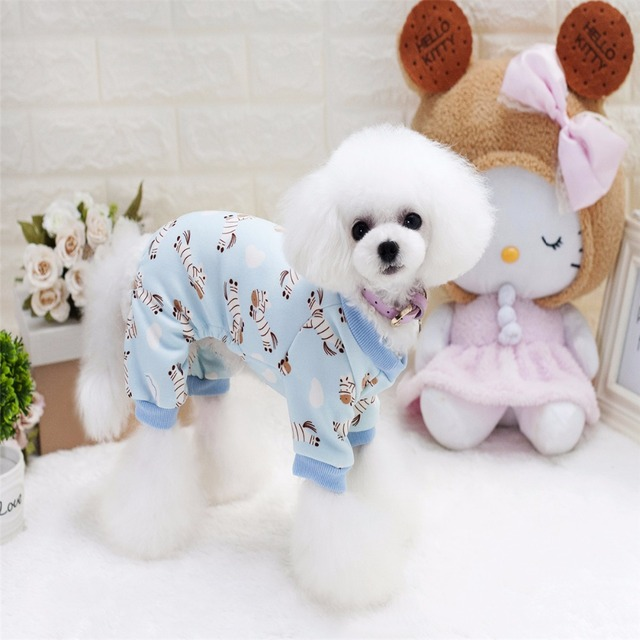 833b2c334fcb Y84 Newly Winter Pet Clothes Dog Jumpsuits Rompers Warm Cute printed Puppy  dog four leg Pajamas Soft tracksuit for Chihuahua