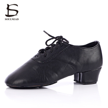 2017 New Style Adult Men Boy Modern Latino Ballroom Tango Salsa Dance Shoes Low Heel Soft