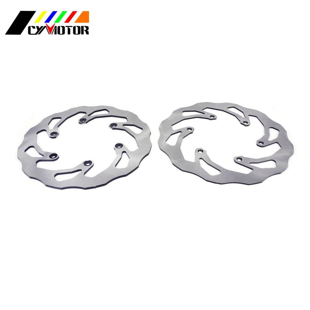 Motorcycle Steel Rear Front Brake Disc For WR YZ 125 250 WR250F WR450F YZ250F YZ450F WR426F YZ426F YZ250X YZ250FX WR 2001 2016