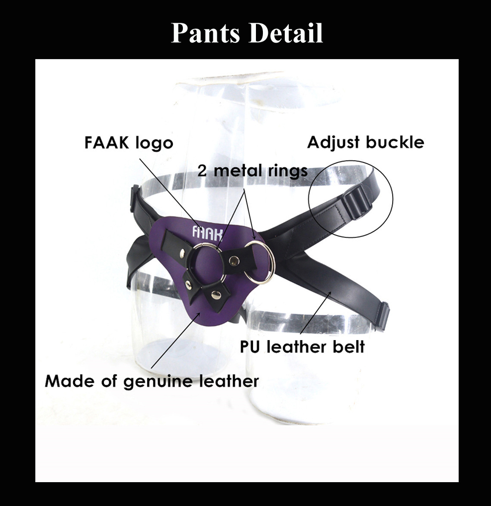 Leather Strap On Adjustable Dildo Harness