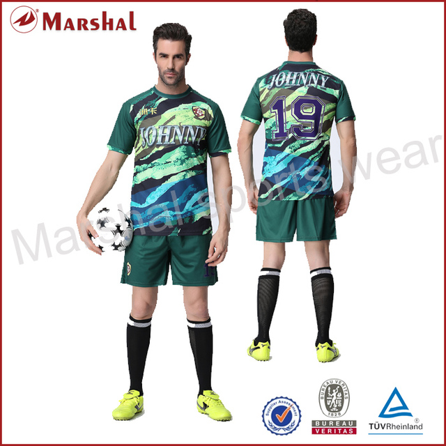 15796eadb Camouflage Color Soccer Set Latest Design Soccer Uniform Sublimation Soccer  kits Top quality personalised sublimation