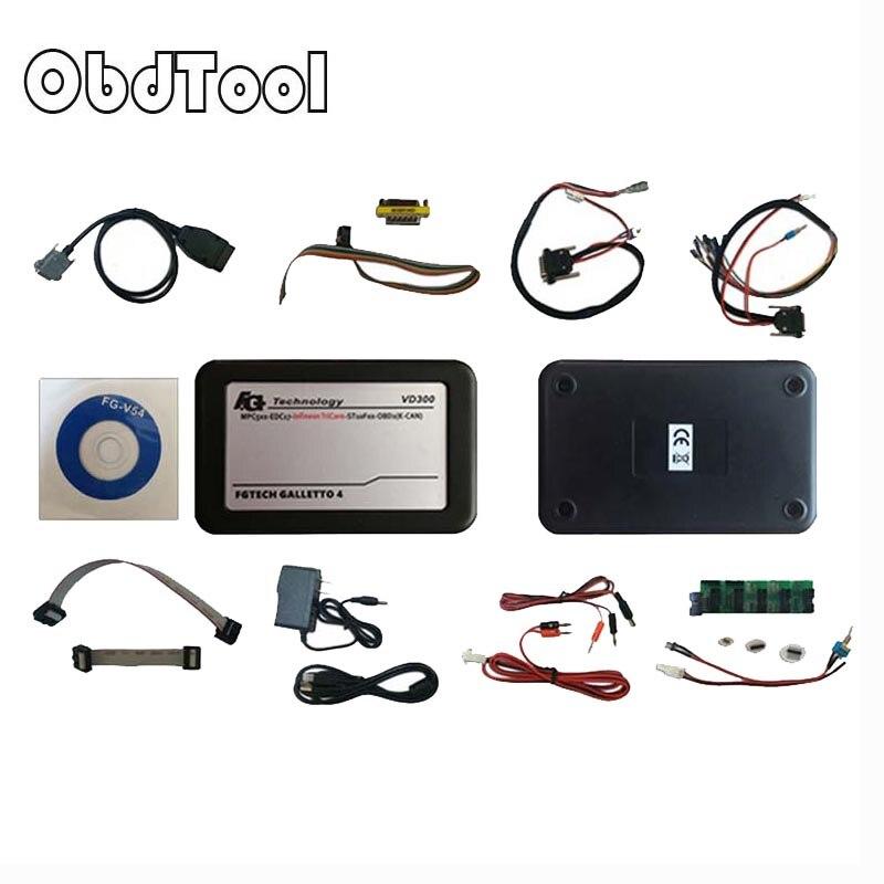 ObdTooL Fgtech Master V54 VD300 Support BDM-Tricore-Boot-OBD FG Tech voiture camion ECU puce outil de réglage