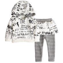 2 шт./компл. мода зимняя мода дети девочек одежда устанавливает детский девочка костюм устанавливает с капюшоном пальто + брюки для 2-5y детей одежда
