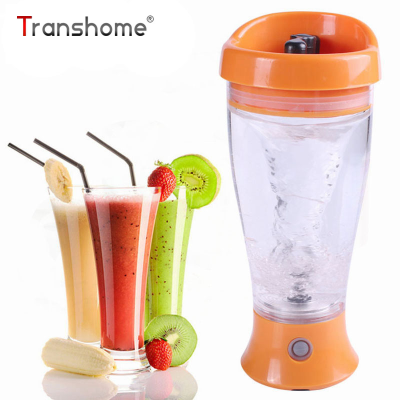 Transhome Electric Automation Protein Shaker Blender 500ml Creative Automatic Mixing Electric Self-stirring Juice Water Bottle