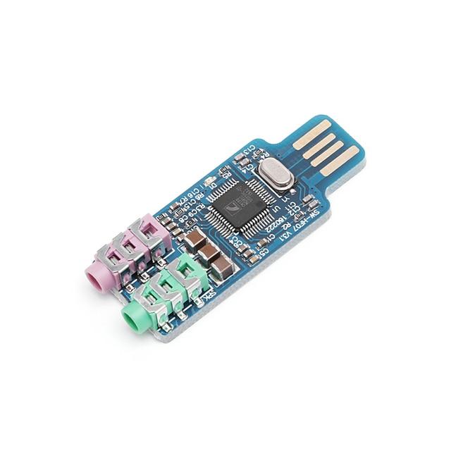 Новый CM108 usb-накопитель без звуковой карты ноутбук внешняя звуковая карта новый модуль Перевозка груза падения-PC друг