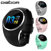 DIGOOR Q1 Fitness bracelet woman IP67 waterproof Support Blood pressure Monitoring Passometer Heart Rate tracker Smart watch(China)