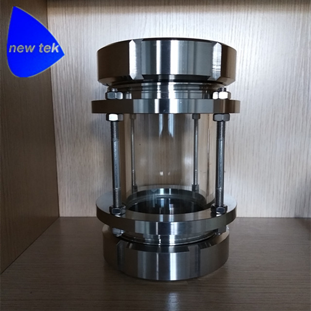 DIN80 Male to Male Thread Inline Sight Glass-Sanitary SS304 Stainless Steel m m 13mm to 9mm male thread air compressor inline manual valve