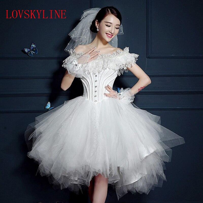2017 Spring And Summer Design Short Wedding Dress The
