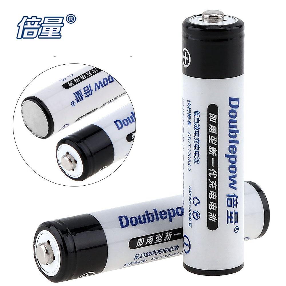 2pcs doublepow 1100mah aaa rechargeable battery 1 2v lsd aaa ni mh nimh battery recargables. Black Bedroom Furniture Sets. Home Design Ideas