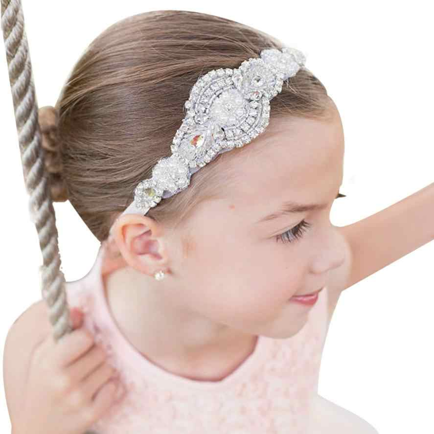 Girls Newborn Hairband Rhinestone 2017 Vintage Beauty Handmade Headbands  Pearl Beads Elastic Kids Hair Band Wedding 5036f632868c