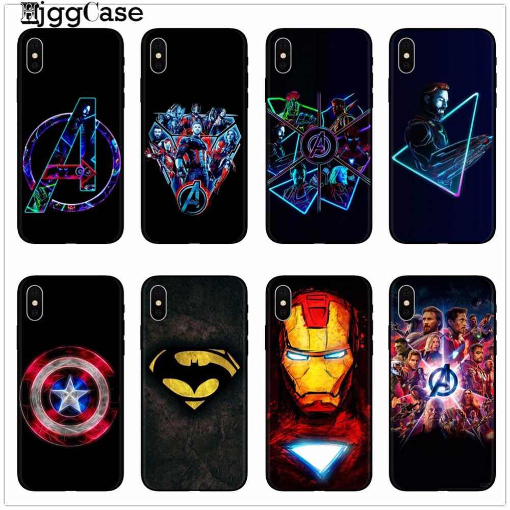 Deadpool iron Man Marvel Avengers KingKong Phone Case Cover For iphone X 8  7 6 6S Plus 5 5S SE TPU Soft Silicone Black Cases b22d0bdb2a8