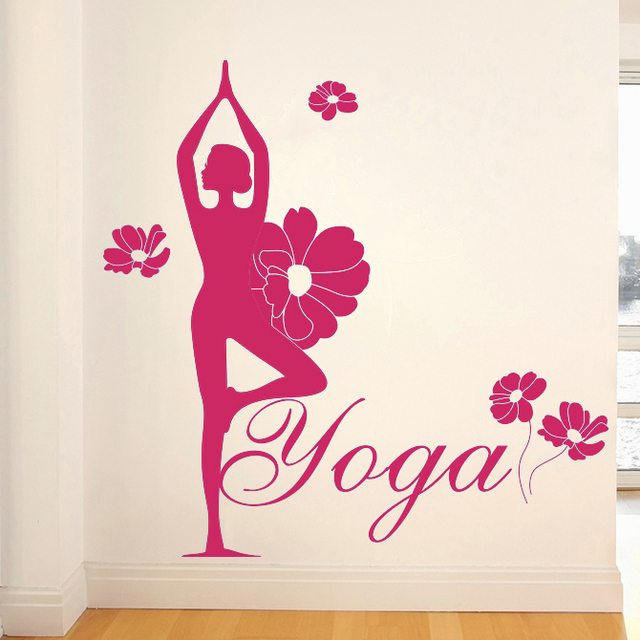Yoga Health Center figures wall stickers living room TV sofa bedroom ...