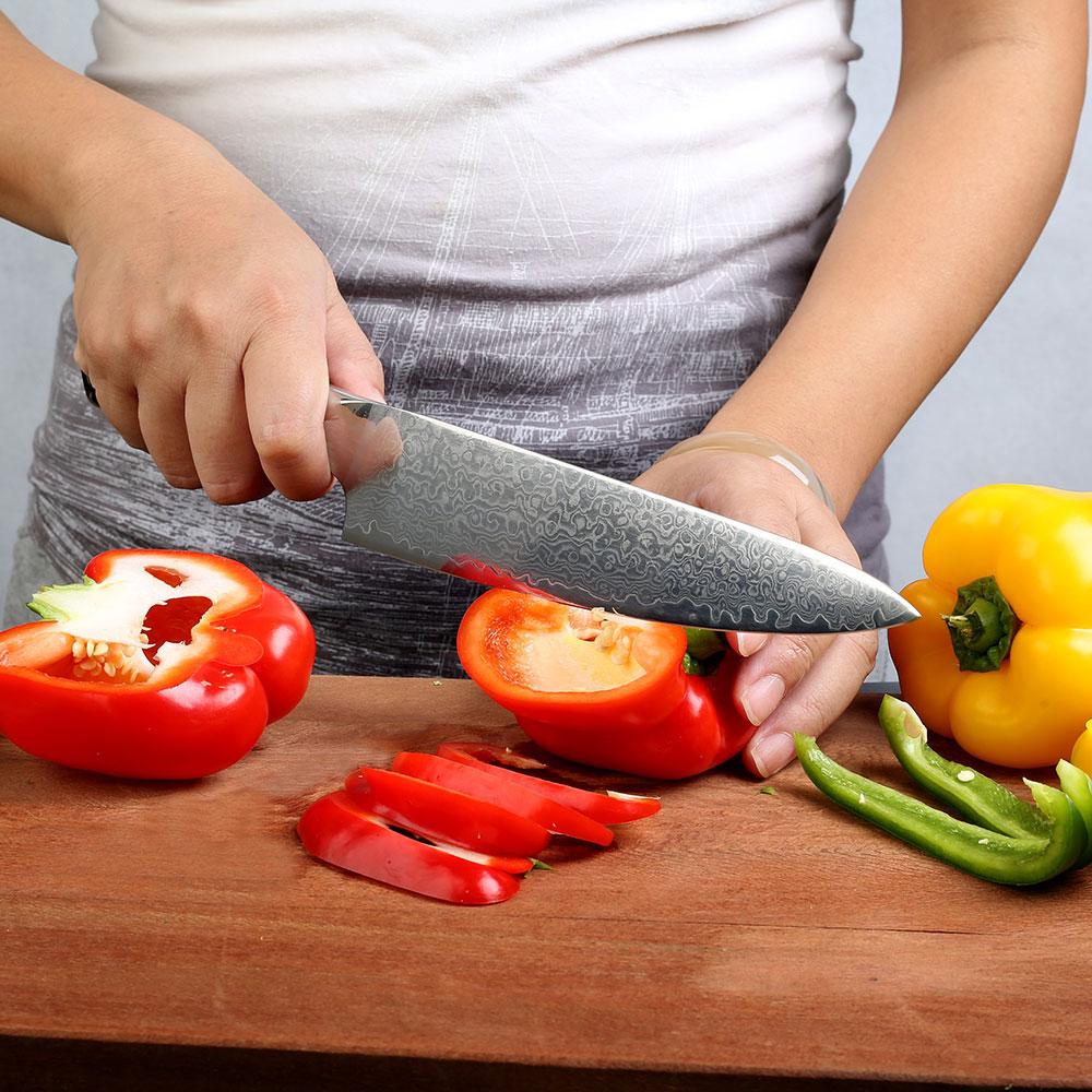 SUNNECKO قسط سكين الطاهي دمشق الصلب اليابانية VG10 شفرة المطبخ الشيف السكاكين G10 مقبض قوي صلابة حادة أدوات تقطيع-في سكاكين مطبخ من المنزل والحديقة على  مجموعة 2