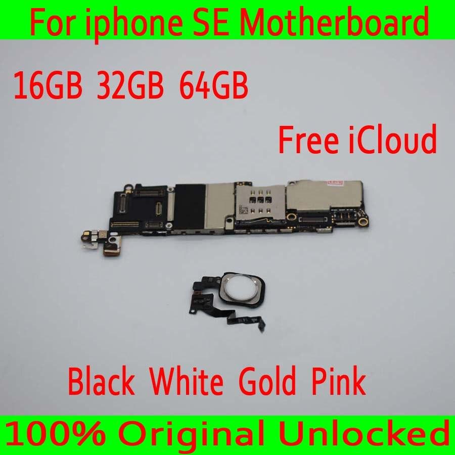 Met Touch ID voor iphone SE Moederbord, 100% Originele ontgrendeld voor iphone 5SE SE Moederbord met IOS Systeem, 16 GB/32 GB/64 GB-in Antenne voor mobiele telefoons van Mobiele telefoons & telecommunicatie op AliExpress - 11.11_Dubbel 11Vrijgezellendag 1