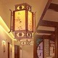 Китайские антикварные четырехсезонные подвесные светильники с изображением кофейного дерева в деревенском стиле для коридора  крыльца и л...