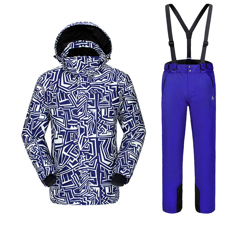 Новая мужская фанерная доска лыжный костюм, для спорта на открытом воздухе Лыжная одежда для альпинистов мужские лыжные штаны ветронепроницаемая Водонепроницаемая теплая одежда - Цвет: C1