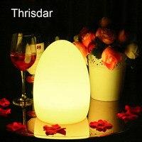 Thrisdar 16 Kolor LED Egg Bar Lampa Stołowa Z Pilota USB Akumulator DOPROWADZIŁY Oświetlony Stół Meble Bar KTV Światła