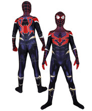 Miles Morales Infinity War Spiderman Halloween Party Cosplay Spider-Man Costumes Jumpsuits Superhero Suit