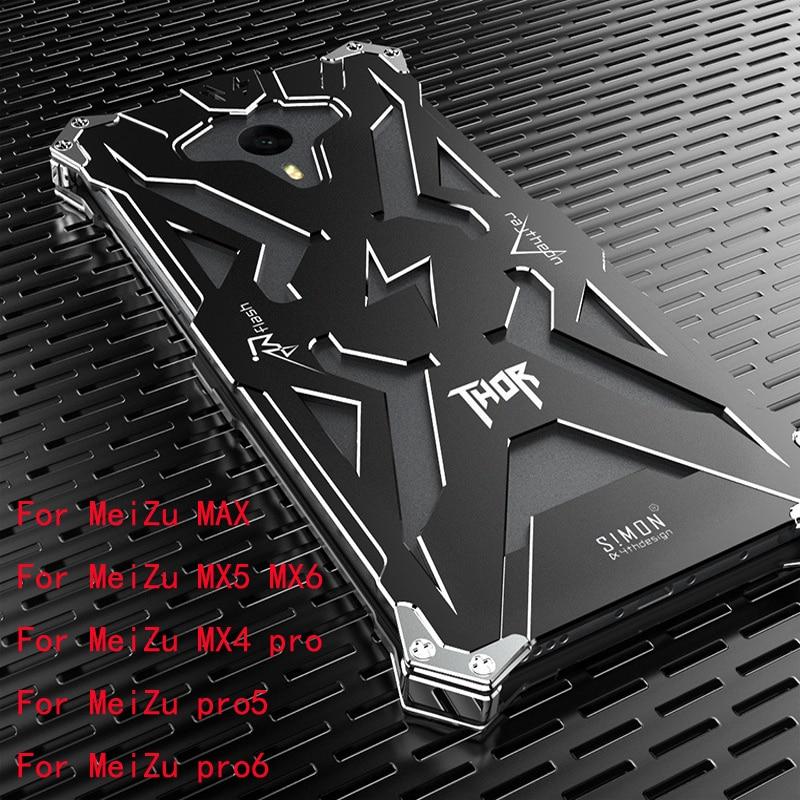 Simon Design Metal Aluminum Tough Armor THOR IRON MAN Phone Case for MeiZu pro 5 pro