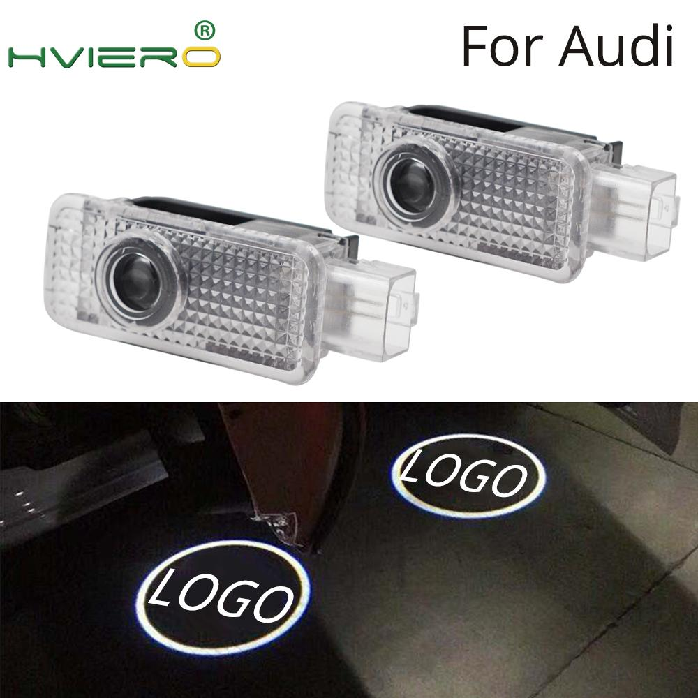 2X Door Light Special Welcome Light Projection Lamp Logo LED For Audi A1 A3 A4L A6L Q3 Q5 Q5L R8 RS3 RS4 RS5 RS6 5W Laser Light
