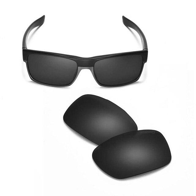 Acompatible Lentilles de remplacement pour Oakley Flak Jacket Lunettes de soleil, Black - Polarized