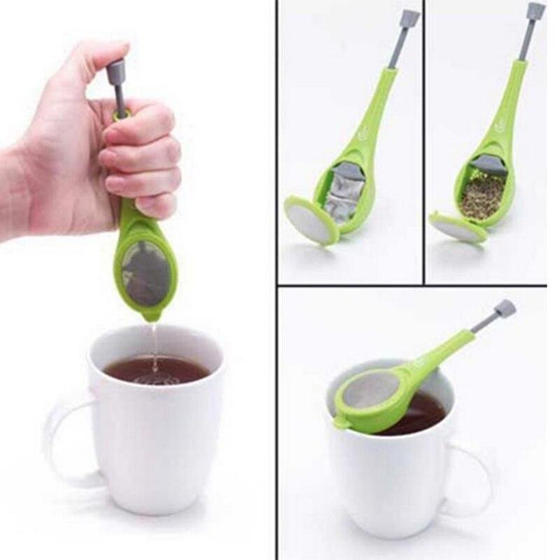 Total Tea Infuser  Plastic Built-in Plunger Healthy Intense Flavor Reusable Tea Bag Tea&Coffee Strainer Tea Strainer19002
