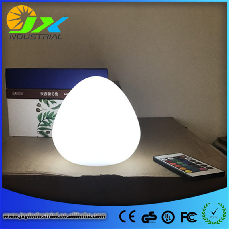 Free Shipping Color changing rechargeable Plastic LED Mood desk table lamp remote control bedroom night mood lighting