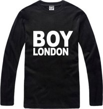 New Men's long sleeve T shirt Slim GD BOY London Cotton Top Casual Hooded Fashion