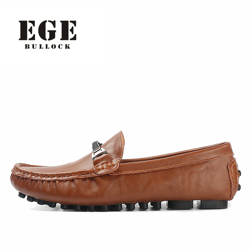 EGE Men Shoes New Arrival Big Size Casual Split Leather Male Flats Classics High Quality Loafers Slip-On Driving Men Shoes top brand high quality genuine leather casual men shoes cow suede comfortable loafers soft breathable shoes men flats warm
