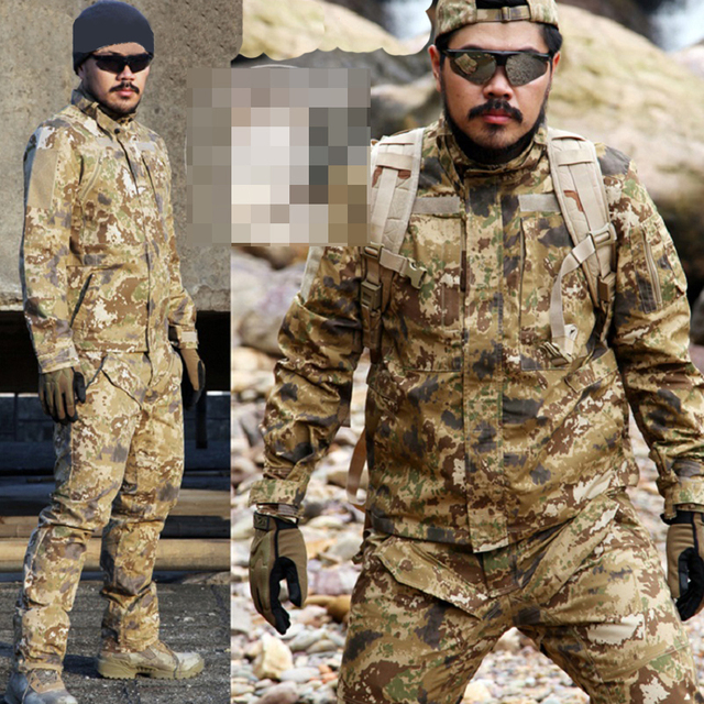 SINAIRSOFT TACTICAL Men Urban Sports BDU Camouflage Jacket Outdoor Hiking Hunting Military Anti-scratch Shooting Outwears
